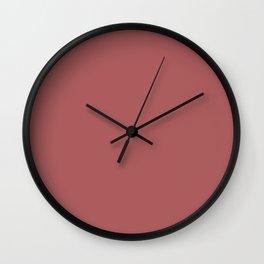 PANTONE 18-1630 Dusty Cedar Wall Clock
