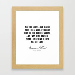 10  |  Immanuel Kant Quotes | 190810 Framed Art Print