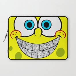 Icey Spongebob With Angry Cheeks Laptop Sleeve