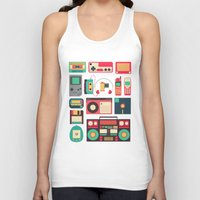 technology Tank Tops featuring Retro Technology 1.0 by Ralph Cifra