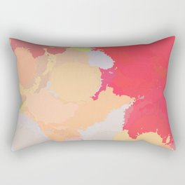 Red abstract splatter Rectangular Pillow