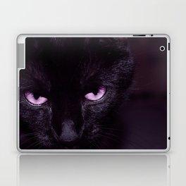 Black Cat in Amethyst - My Familiar Laptop & iPad Skin