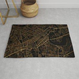 Black and gold Ho Chi Minh map, Vietnam Rug