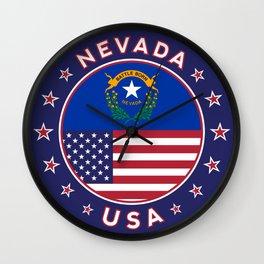 Nevada, USA States, Nevada t-shirt, Nevada sticker, circle Wall Clock