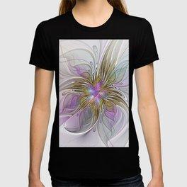Flourish, Abstract Fractal Art Flower T-shirt