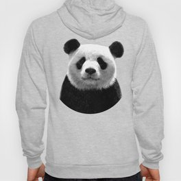 Black and white panda portrait Hoody