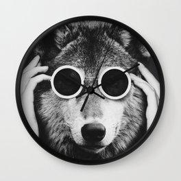 Wolf Glam Wall Clock