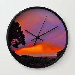 Smoky Sunset Bay Wall Clock