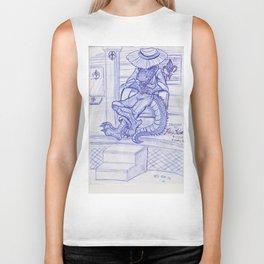 The Cajun Gator_Chillaxing Biker Tank