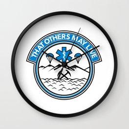 Sea Air Land Rescue Badge Wall Clock