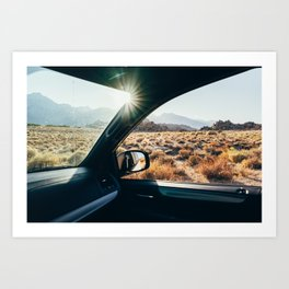 Roadtrip Sunset Art Print