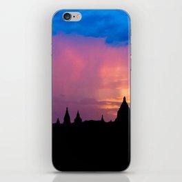 Sunset in Bagan, Myanmar iPhone Skin
