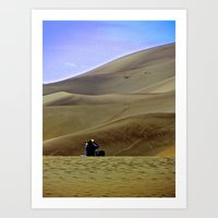 Alone on the Sand Dunes. Art Print