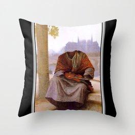 Bouguereau's Invisible Bohemian Throw Pillow