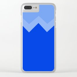 Geometric abstract - zigzag, blue. Clear iPhone Case