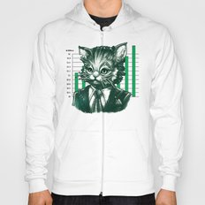 Blue Tooth Cat Deals in Trillions Hoody