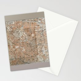 Milan, Italy / Milano, Italia antique map Stationery Cards