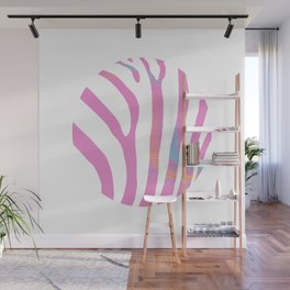 zebra enclosed Wall Mural