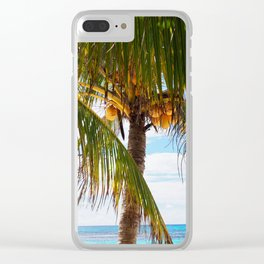 Fresh Palm Trees Clear iPhone Case