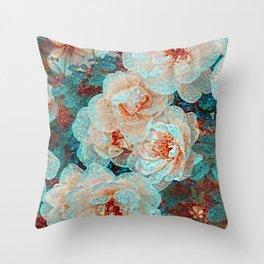 Medley flowers Throw Pillow