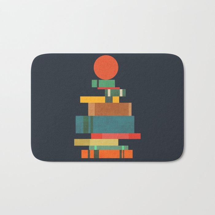 Book stack with a ball Bath Mat