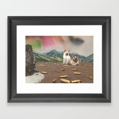 big cats of war Framed Art Print