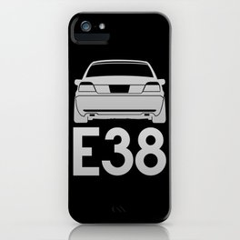 BMW E38 - silver - iPhone Case