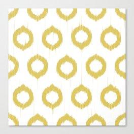Mustard Ikat Canvas Print