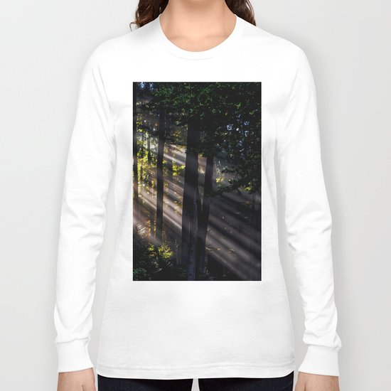 Pathless Woods #spring #forest Long Sleeve T-shirt