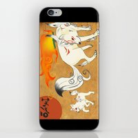 okami iPhone & iPod Skins featuring Okami! by Caroline.Sweet