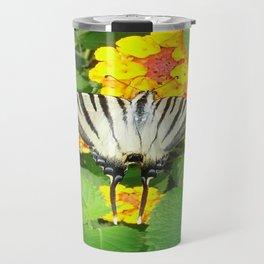 Scarce Swallowtail Feeding on Lantana Travel Mug