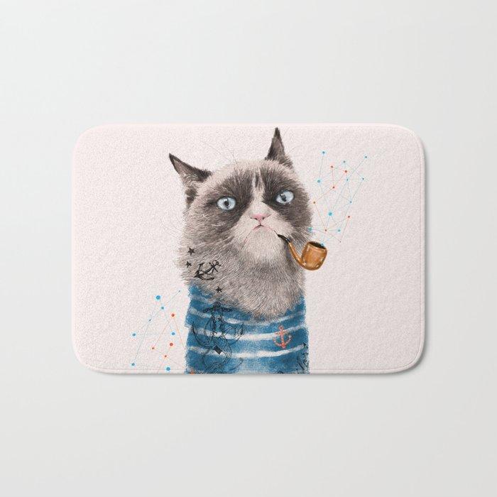 Sailor Cat III Bath Mat