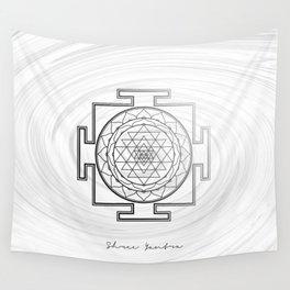 Swirly Shree Yantra Wall Tapestry