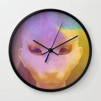 rabbit Wall Clocks featuring rabbit by Maria Enache