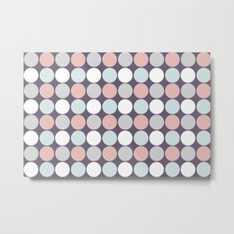 Custom Modern Multicolor Poke A Dots Pattern Metal Print