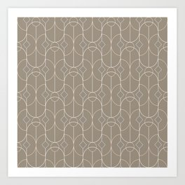 Contemporary Bowed Symmetry in Taupe Art Print