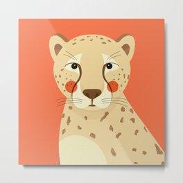 Cheetah, Animal Portrait Metal Print