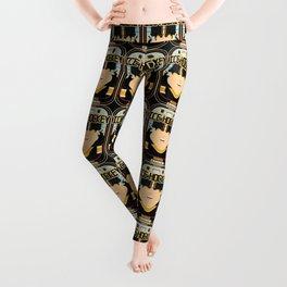 Ice Hockey Black and Yellow - Boardie Zamboni - Amy version Leggings