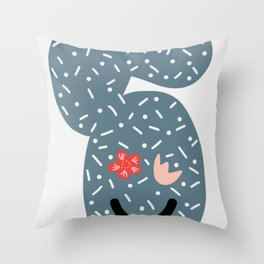 Smiling Cactus Throw Pillow
