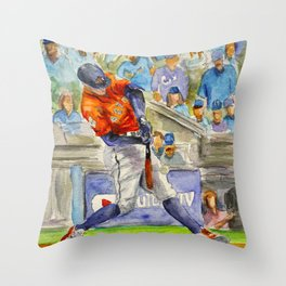 George Springer - Astros Outfielder Throw Pillow
