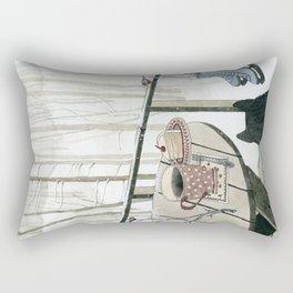 Winter Breakfast on the Porch Rectangular Pillow