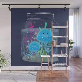 Vacation Memories With Jellyfish In A Jar Wall Mural