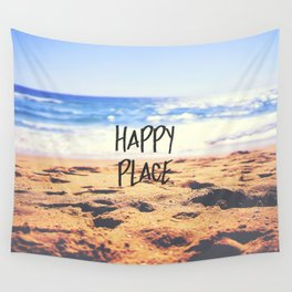Happy Place Beach Wall Tapestry