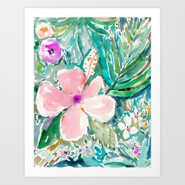 PALE PINK HIBISCUS Art Print