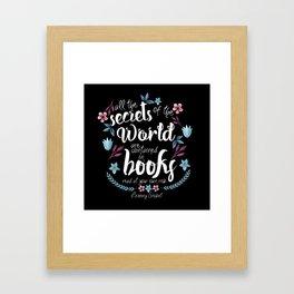 Book Secrets (Black) (Lemony Snicket Quote) Framed Art Print