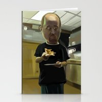louis ck Stationery Cards featuring Louis CK Caricature by Richtoon