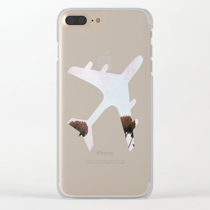Across the Red Desert Clear iPhone Case