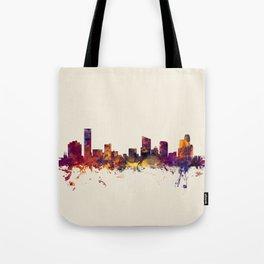Grand Rapids Michigan Skyline Tote Bag