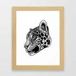 Jaguar - ink illustration Framed Art Print