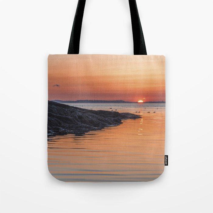 Plum Cove Sunset Tote Bag